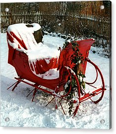 Christmas Sleigh Acrylic Print by Andrew Fare