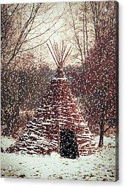 Christmas Tent Acrylic Print by Wim Lanclus