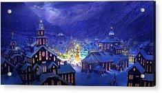 Christmas Town Acrylic Print by Philip Straub