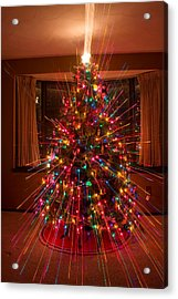 Christmas Tree Light Spikes Colorful Abstract Acrylic Print by James BO  Insogna