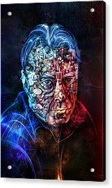 Christopher Hitchens Acrylic Print by Robert Palmer