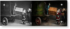 Chritstmas - How Santa Ruined Christmas 1924 - Side By Side Acrylic Print by Mike Savad