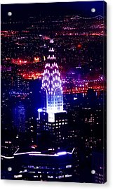 Chrysler Building At Night Acrylic Print by Az Jackson