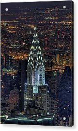 Chrysler Building At Night Acrylic Print by Jason Pierce Photography (jasonpiercephotography.com)