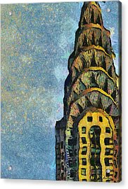 Chrysler Building New York Acrylic Print by Russ Harris