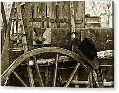 Chuck Wagon Tools Of The Trade Acrylic Print by Toni Hopper