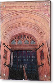 Church Doors Acrylic Print by Kenny King