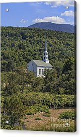 Church In Stowe Vermont Acrylic Print by Edward Fielding