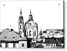 Church Of St Nikolas Acrylic Print by Michal Boubin