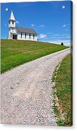 Church On A Hill Acrylic Print by Thomas R Fletcher