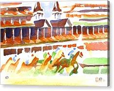 Churchill Downs Watercolor Acrylic Print by Kip DeVore