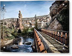 Cidacos River And Picuezos In Autol Acrylic Print by RicardMN Photography