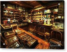Cigar Shop Acrylic Print by Yhun Suarez