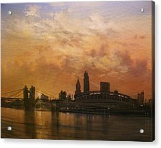 Cincinnati Skyline Acrylic Print by Tom Shropshire