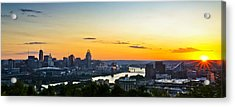 Cincinnati Sunrise II Acrylic Print by Keith Allen