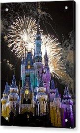 Cinderella Castle Spectacular Acrylic Print by Charles  Ridgway