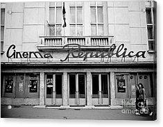 Cinema Republica Acrylic Print by Gabriela Insuratelu