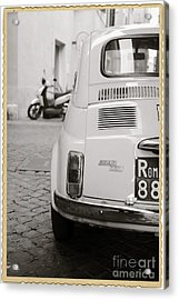 Cinquecento Black And White Acrylic Print by Stefano Senise