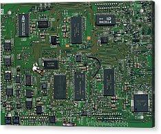 Circuit Board I Acrylic Print by David Paul Murray