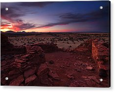 Citadel Sunset Acrylic Print by Mike  Dawson