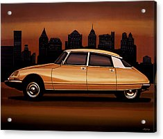 Citroen Ds 1955 Painting Acrylic Print by Paul Meijering