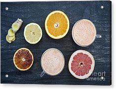 Citrus Smoothies Acrylic Print by Elena Elisseeva