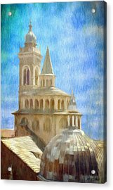 Citta Alta From Above Acrylic Print by Jeff Kolker