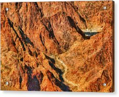 City - Arizona - Grand Canyon - A Look Into The Abyss Acrylic Print by Mike Savad