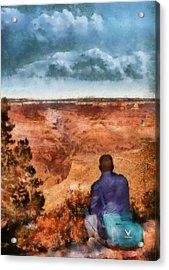 City - Arizona - Grand Canyon - The Vista Acrylic Print by Mike Savad