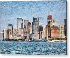 City - Ny - Manhattan Acrylic Print by Mike Savad