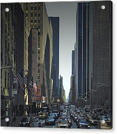 City-art 6th Avenue Ny  Acrylic Print by Melanie Viola