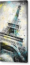 City-art Paris Eiffel Tower Iv Acrylic Print by Melanie Viola