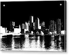 City Of Boston Skyline   Acrylic Print by Enki Art