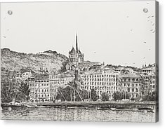 City Of Geneva Acrylic Print by Vincent Alexander Booth