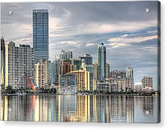 City Of Miami Acrylic Print by William Wetmore