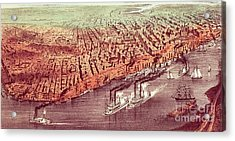 City Of New Orleans Acrylic Print by Currier and Ives