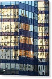 City Reflections 1 Acrylic Print by Anita Burgermeister