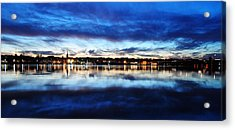 City Reflections Acrylic Print by Tor  Johannessen
