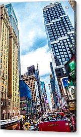 City Sights Nyc Acrylic Print by Az Jackson