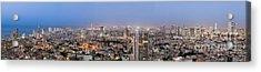 City Skyline At Night Acrylic Print by Noam Armonn