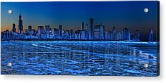 Cityscape Acrylic Print by Justin W. Kern