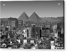 Cityscape Of Cairo, Pyramids, Egypt Acrylic Print by Anik Messier