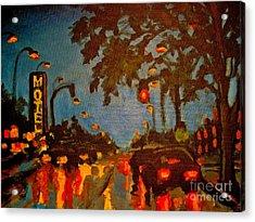 Cityscape Painting Acrylic Print by John Malone