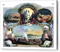 Civil War 14th Regiment Memorial Acrylic Print by War Is Hell Store