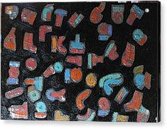 Night Sky 24 X 36 Oil On Canvas 2015 Acrylic Print by Radoslaw Zipper