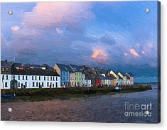 Claddagh Quay Acrylic Print by Andrew Michael
