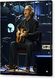 Clapton Acoustic Acrylic Print by Steven Sachs
