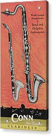 Clarinet And Giant Boehm Bass Acrylic Print by American School