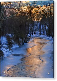 Clarks Creek Sunset Acrylic Print by Lori Deiter