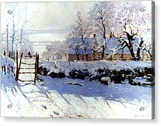 Claude Monet: The Magpie Acrylic Print by Granger